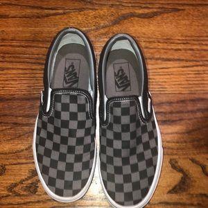 Black & grey Checkered vans
